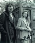 Tom Baker, Lalla Ward - Multi signed DOCTOR WHO Genuine Signed Autographs 10 x 8 COA 10276